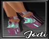 Teal Purple Latex Heel