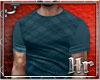 Hr| Plaid Teal T Shirt