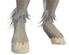 Ankle silver fur