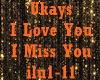 Ukays~I Love U I Miss U