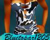 Blue Camo MiniDress