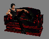 Red Rose Cuddle Chair 2
