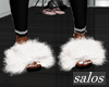 S | Fur slides white
