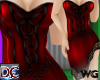 Corset Flirty Skirt Red