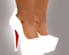 (N) White Red Bottoms