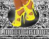 Pearl Yellow Spike Heels