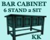 (KK)BAR CABINET TEAL STR