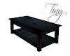Blue Wood Coffee Table