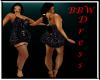 BBW Black Rose Dress