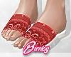 Bandana Slides Red