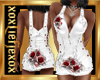 [L] White Rosses Dress