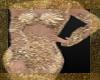 Golden flower minidress