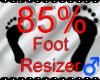 *M* Foot Resizer 85%