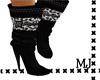 Leopard boots black