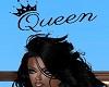 Queen Head Sign Black