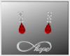 Tear Earrings Red