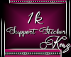 [K]Support Sticker 1K