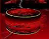 ~TQ~Red round pouf