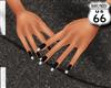 SD Black Silver Nails