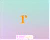 Fo. R Letter Orange