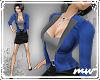 !Office Suit blue blk