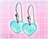 Minty Heart Earrings