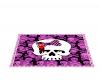 pink skulls rug
