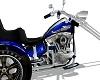 blue skull motorcycle