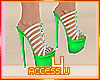 ! Green Strappd Stiletto