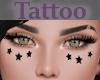 Tattoo Cheeks Stars Blk