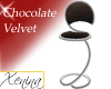 X Chocolate Velvet Stool