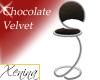 X Chocolate Velvet Stool
