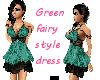 Green fairy style dress