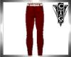 CTG RED PANTS /WHT BELT