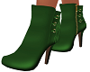 Green Mina Ankle Boots
