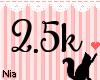 2.5k Support Sticker