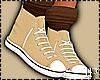 Cream Sneaker Brown Sock