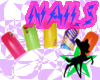 mb! nails multicolor 80s