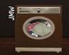 JMW~FrontLoad Washer Brn