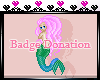 Mermaid badge. <3