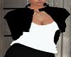 BLack Jacket White Top