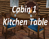 Cabin 1 Kitchen Table