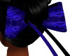 Blue FR Flowing Hair Bow
