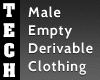 Empty Male Clothing