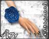 A- Blue Flower Band_W