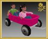 Twins & Pink Wagon