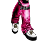 (AA)Pink and Black Boots