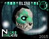 Flowery Feline Skull