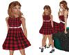 TF* Red Plaid Dress KID