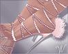 Sparkle Bunny Fur Heels